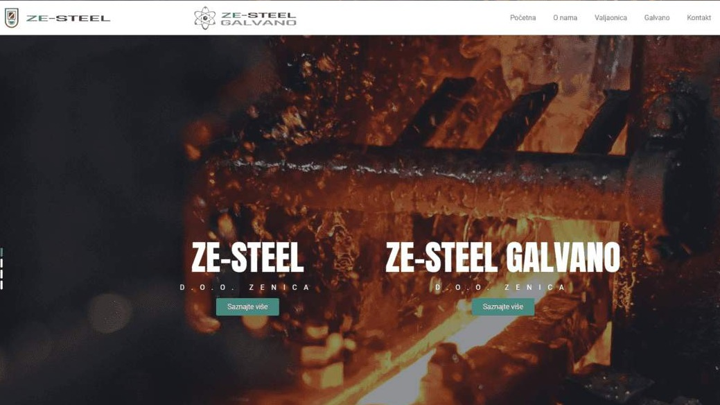 "Website for ""ZeSteel d.o.o."""