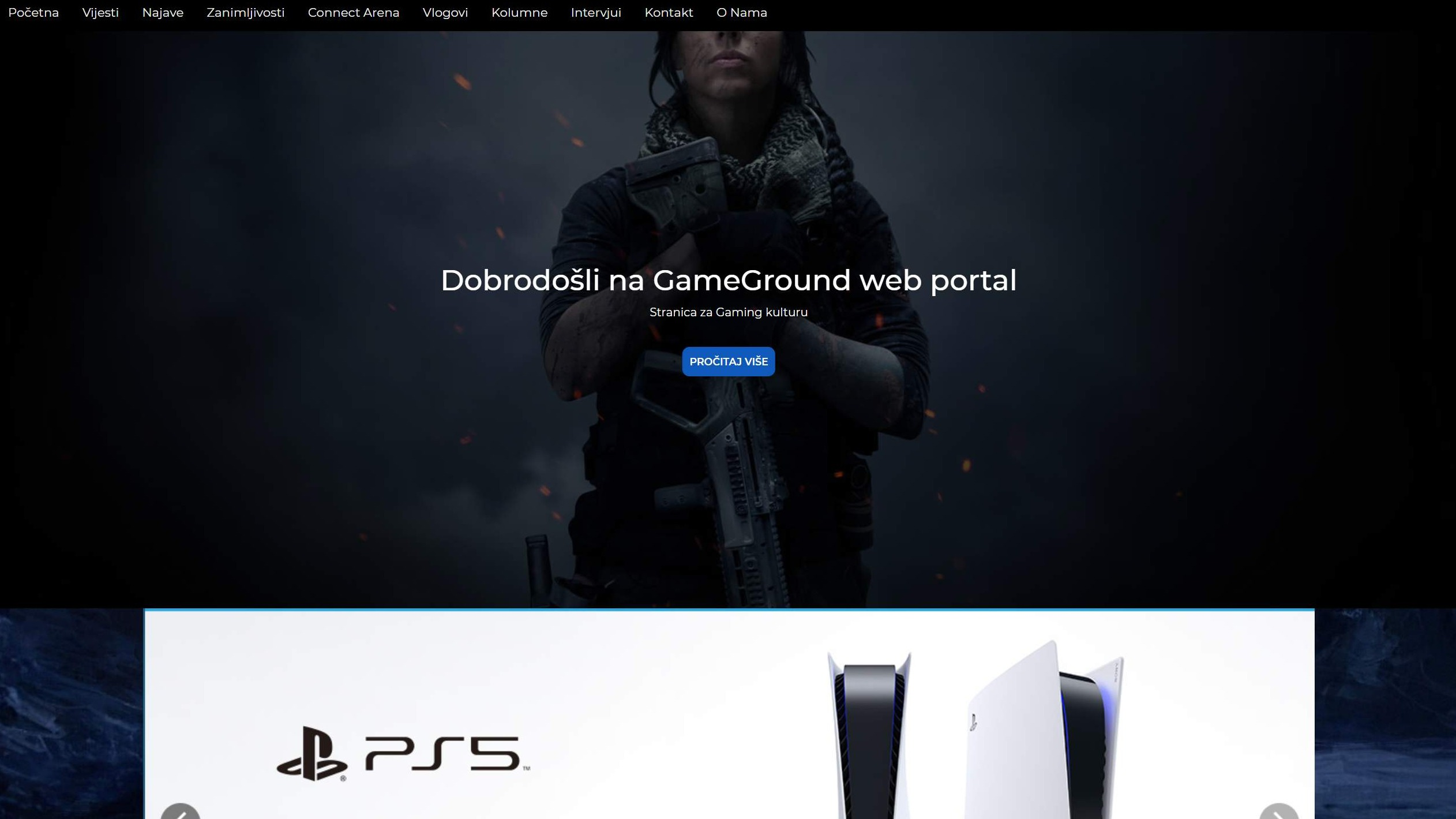 Gameground.ba - implementacija CMS-a