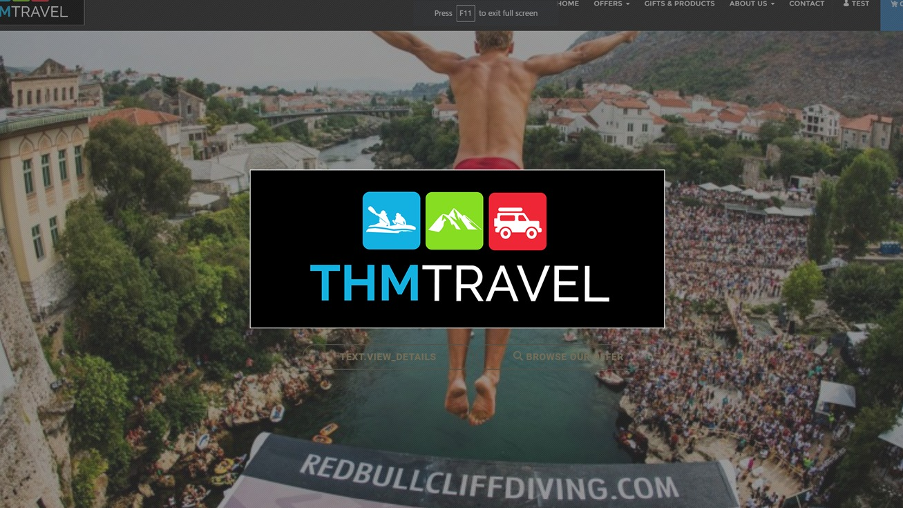 THM Travel - Web stranica